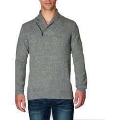 Golfy męskie: Sweter w kolorze szarym
