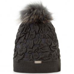Czapka damska 87-HF-018-8. Szare czapki zimowe damskie marki Wittchen, na zimę, z dzianiny. Za 139,00 zł.