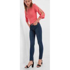 Jeansy skinny. Brązowe jeansy damskie skinny marki Orsay, s, z dzianiny. Za 99,99 zł.