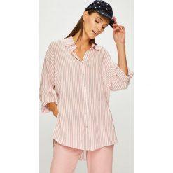 Trendyol - Koszula. Szare koszule damskie marki Trendyol, w paski, z tkaniny, casualowe, z klasycznym kołnierzykiem, z długim rękawem. W wyprzedaży za 69,90 zł.