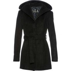 Krótki płaszcz z kapturem bonprix czarny. Czarne płaszcze damskie bonprix. Za 219,99 zł.