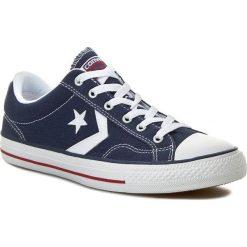 Trampki CONVERSE - Star Player Ox 144150C  Navy/WHite. Niebieskie trampki męskie Converse, z gumy. W wyprzedaży za 209,00 zł.