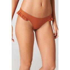 J&K Swim X NA-KD Dół bikini z falbanką - Orange. Pomarańczowe bikini J&K Swim x NA-KD. Za 72,95 zł.