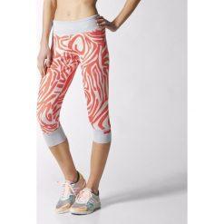 Spodnie damskie: Adidas Legginsy 3/4 Stellasport biało-różowe r. XXS (S20639)