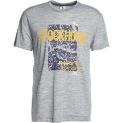 Koszulki polo: super.natural GRAPHIC TEE Tshirt z nadrukiem ash melange/stockholm