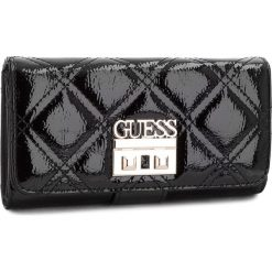 Duży Portfel Damski GUESS - SWPA69 90590  BKS. Czarne portfele damskie marki Guess, z aplikacjami, ze skóry ekologicznej. Za 279,00 zł.