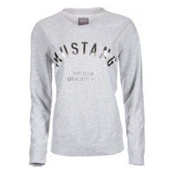 Mustang Bluza Damska S Szary. Niebieskie bluzy damskie marki Mustang, z aplikacjami, z bawełny. Za 196,00 zł.