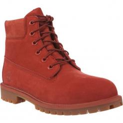 """Buty dziecięce 6"""" IN PREMIUM WP BOOT czerwone r. 35.5. Czerwone buciki niemowlęce marki Timberland, na zimę. Za 421,27 zł."""