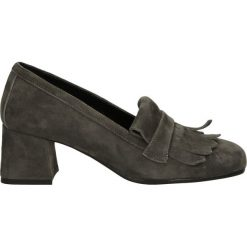 Czółenka - 406 CAM GRIGI. Szare buty ślubne damskie Venezia, ze skóry. Za 229,00 zł.