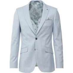 Marynarki męskie slim fit: Burton Menswear London PALE TEXTURED Marynarka garniturowa blue