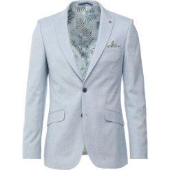 Burton Menswear London PALE TEXTURED Marynarka garniturowa blue. Niebieskie marynarki męskie slim fit Burton Menswear London, z elastanu. Za 459,00 zł.