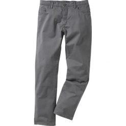 Rurki męskie: Spodnie ze stretchem Slim fit bonprix dymny szary