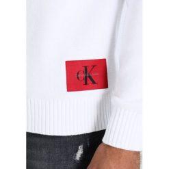Calvin Klein Jeans SENET REGULAR FIT Sweter bright white. Białe kardigany męskie marki Calvin Klein Jeans, m, z bawełny. W wyprzedaży za 359,20 zł.