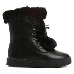 Czarne Śniegowce Baby Girl. Czarne buty zimowe chłopięce marki Born2be. Za 29,99 zł.