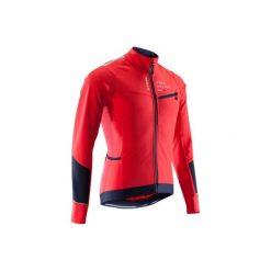 Kurtka zimowa na rower szosowy ROADRACING 500 męska. Czarne kurtki męskie zimowe marki B'TWIN, m, z elastanu. Za 169,99 zł.