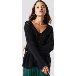 Trendyol Sweter Yaka - Black. Czarne swetry oversize damskie Trendyol, z dzianiny. Za 80,95 zł.