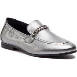 Lordsy TOMMY HILFIGER - Rubberized Chain Heeled Sandal FW0FW03891 Light Silver 016. Czarne lordsy damskie marki TOMMY HILFIGER, z materiału, z okrągłym noskiem, na obcasie. Za 599,00 zł.