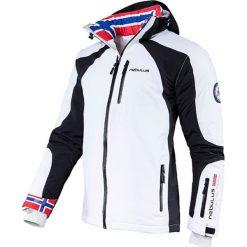 """Kurtka narciarska """"Davos"""" w kolorze biało-czarnym. Białe kurtki sportowe męskie Nebulus, m, narciarskie. W wyprzedaży za 431,95 zł."""
