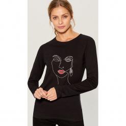 Koszulka z długimi rękawami - Czarny. Czarne t-shirty damskie Mohito, l. Za 59,99 zł.