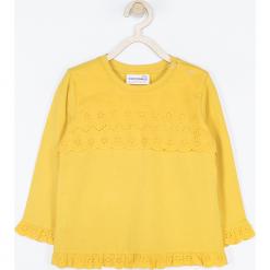Koszulka. Pomarańczowe bluzki dziewczęce bawełniane marki BEAUTIFUL, z aplikacjami, z długim rękawem. Za 45,90 zł.