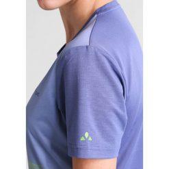 Vaude MOAB Tshirt z nadrukiem blueberry. Niebieskie t-shirty damskie Vaude, z nadrukiem, z elastanu. W wyprzedaży za 146,30 zł.