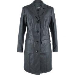 Płaszcz ze sztucznej skóry bonprix czarny. Czarne płaszcze damskie bonprix, ze skóry. Za 239,99 zł.