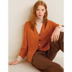 Mango - Bluzka. Różowe bluzki z odkrytymi ramionami marki Mango, l, z poliesteru, casualowe. Za 139,90 zł.