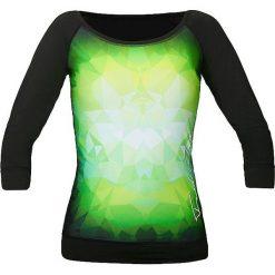 Bluzki asymetryczne: Feelj Koszulka damska Green Power czarno-zielona r. M