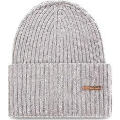 Czapka TRUSSARDI JEANS - Hat Rib-Knitted 59Z00079 E010. Szare czapki zimowe damskie marki Calvin Klein Jeans, na zimę, z jeansu. Za 189,00 zł.