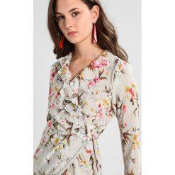 Bluzki asymetryczne: Vila VITASJA Bluzka z długim rękawem seagrass/flower