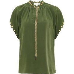 MICHAEL Michael Kors SCALLOP CHAIN TO Bluzka jade. Zielone bralety MICHAEL Michael Kors, m, z jedwabiu. Za 949,00 zł.