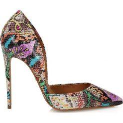 Buty ślubne damskie: Multikolorowe czółenka damskie