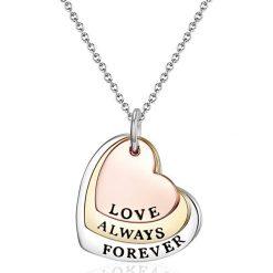"""Naszyjniki damskie: Naszyjnik """"Love Always Forever"""" z zawieszką – dł. 43 cm"""