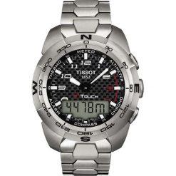 RABAT ZEGAREK TISSOT T-Touch Expert Titanium T013.420.44.202.00. Czarne zegarki męskie TISSOT. W wyprzedaży za 3564,00 zł.