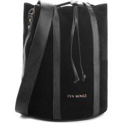 Torebka EVA MINGE - Miami 4G 18NN1372655EF  801. Czarne torebki worki Eva Minge, ze skóry. W wyprzedaży za 349,00 zł.