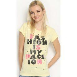 Bluzki, topy, tuniki: Żółty T-shirt Catch On