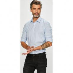 Lacoste - Koszula. Szare koszule męskie na spinki Lacoste, l, w paski, z bawełny, z klasycznym kołnierzykiem, z długim rękawem. W wyprzedaży za 399,90 zł.