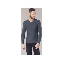 Swetry Guess  FINALORE. Niebieskie swetry klasyczne męskie Guess, m, z aplikacjami. Za 207,20 zł.