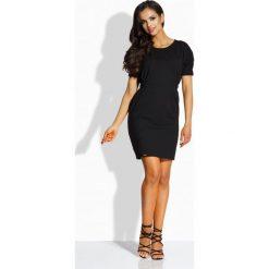 Sukienki: Klasyczna sukienka z gumkami czarny