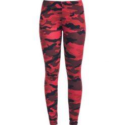 Spodnie damskie: RED by EMP Built For Comfort Legginsy kamuflaż/czerwony