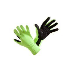 Rękawiczki 500 jesienne. Żółte rękawiczki damskie B'TWIN, na jesień. Za 49,99 zł.