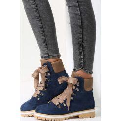 Granatowe Traperki Bye Bye Love. Niebieskie buty zimowe damskie vices. Za 64,99 zł.