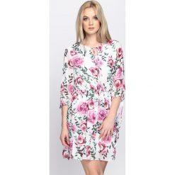 Sukienki: Biała Sukienka Floral Kiss