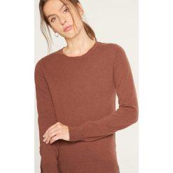 Swetry damskie: Kaszmirowy sweter w kolorze brązowym