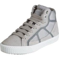 """Sneakersy """"Smart"""" w kolorze szarym. Niebieskie trampki chłopięce marki geox kids, z gumy. W wyprzedaży za 142,95 zł."""