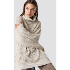 Trendyol Sweter Polo Knitted - Beige. Brązowe golfy damskie Trendyol, z dzianiny. Za 100,95 zł.