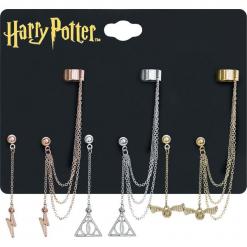 Harry Potter Symbole Kolczyki srebrny. Szare kolczyki damskie Harry Potter, srebrne. Za 79,90 zł.