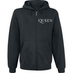 Queen Crest Vintage Bluza z kapturem rozpinana czarny. Czarne bluzy męskie rozpinane Queen, l, z kapturem. Za 184,90 zł.