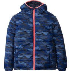 Odzież dziecięca: Kurtka dwustronna pikowana bonprix ciemnoniebieski moro