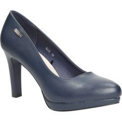 Granatowe czółenka na platformie Sergio Leone 1438. Czarne buty ślubne damskie marki Sergio Leone. Za 98,99 zł.